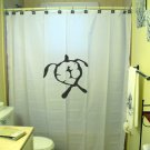Unique Shower Curtain ancient hawaiian petroglyph turtle honu