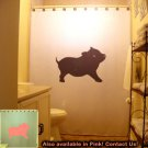 Pig Unique Shower Curtain Piggy pork oink swine cute animal