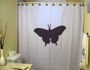 Unique Shower Curtain animal Butterfly moth monarch pretty 2