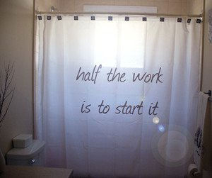 Unique Shower Curtain inspire Half The Work Is To Start It