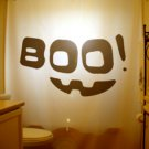 Halloween Unique Shower Curtain Boo! Scary Smiley Happy Face