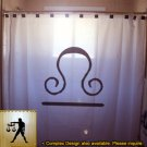 Unique Shower Curtain zodiac sign LIBRA The Scale Balance