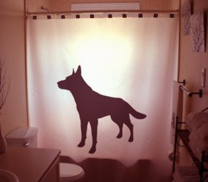 Unique Shower Curtain animal Dog German Shepherd Alsatian Pup