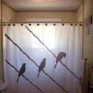 Unique Shower Curtain animal bird on a wire birds raven crow