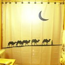 Unique Shower Curtain animal Camel Caravan train Bactrian moon