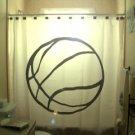Unique Shower Curtain ball Basketball court net not orange