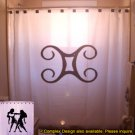 Unique Shower Curtain zodiac sign GEMINI The Twins astrology