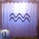 Unique Shower Curtain zodiac sign AQUARIUS The Water Bearer