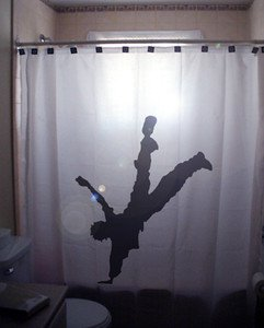 Unique Shower Curtain Dance Hand Stand hip hop breakdance