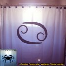 Unique Shower Curtain zodiac sign CANCER The Crab astrology