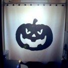 Halloween Unique Shower Curtain Jack O Lantern Pumpkin horror