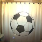 Unique Shower Curtain ball Soccer football field world cup