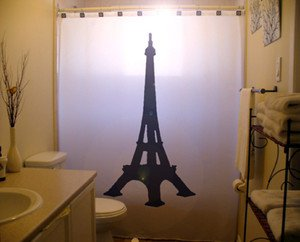 Eiffel Tower Unique Shower Curtain Paris France tour eifel new Custom Shower Curtain