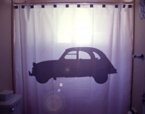 Unique Shower Curtain Car vintage classic old automobile auto