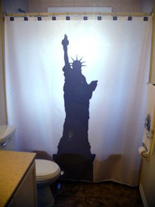 Unique Shower Curtain monument Statue of Liberty New York Lady