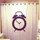Unique Shower Curtain Alarm Clock ring vintage novelty bell