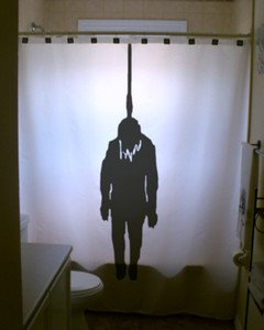 Halloween Unique Shower Curtain Hangman Hanged Man Noose scary