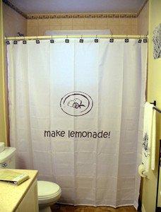 Unique Shower Curtain inspire Make Lemonade life gives lemons