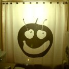 Unique Shower Curtain Fruit Grin & Bear It apple cherry banana