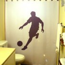 Unique Shower Curtain Soccer Player football ball world cup