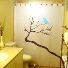 Unique Shower Curtain Bird Tree Blue Birds Blossom Lovebirds