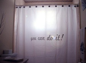 Unique Shower Curtain inspire You Can Do It motivation day