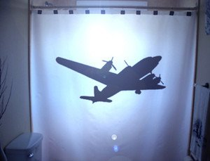 Unique Shower Curtain Airplane plane WWII Bomber B52 B-17 US