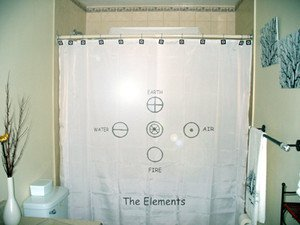 Unique Shower Curtain Five Element earth air fire water spirit
