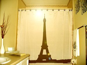 Unique Shower Curtain monument Eiffel Tower tour Paris France