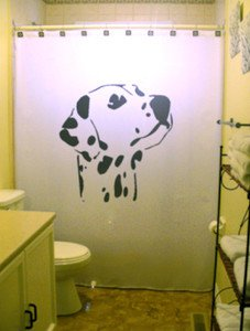 Unique Shower Curtain Dog Dalmation Spots Spotted Hound mutt