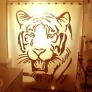 Unique Shower Curtain Tiger big cat Panthera tigris Bengal