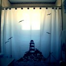 Unique Shower Curtain scene Lighthouse and The Sea gulls