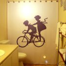 Children Bicycle Unique Shower Curtain Kid Boy Girl Child bike Custom Shower Curtain