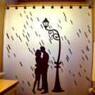 Unique Shower Curtain romance Lovers Couple Rain Street Light