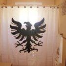 Unique Shower Curtain crest bird Germanic Eagle Shield Viking