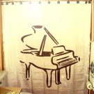 Unique Shower Curtain music instrument Piano organ baby grand