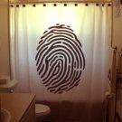 Unique Shower Curtain Thumb Print thumbprint fingerprint locks