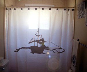Unique Shower Curtain boat Outrigger out rigger canoe ship