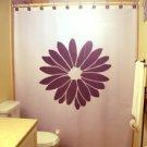 Unique Shower Curtain Flowers Floral Common Daisy Marguerite
