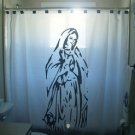 Unique Shower Curtain Virgin Mary Christian Christ Holy Jesus