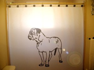 Unique Shower Curtain Dog Dogue De Bordeaux French Mastiff