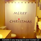 Christmas Unique Shower Curtain Merry Holiday Wish Joyeux Noel Custom Shower Curtain