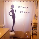 Unique Shower Curtain Drama Queen Chic Woman talk to the hand