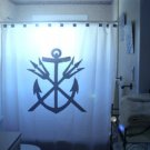 Unique Shower Curtain Anchor Neptune Fork God Water Sea roman