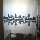 Unique Shower Curtain city Montreal Waterfront Skyline Quebec
