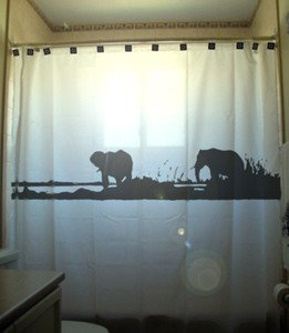 Unique Shower Curtain Elephants Herd Family Elephant 09