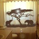 Unique Shower Curtain Elephants Herd Family Elephant 07