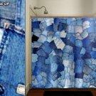 blue pockets denim jeans shower curtain  bathroom     window c