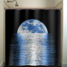 horizon reflection moon shower curtain  bathroom     window cu