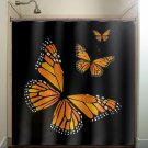 monarch butterfly shower curtain  bathroom     window curtains